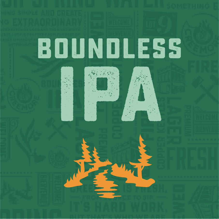 Boundless IPA with mountain icon