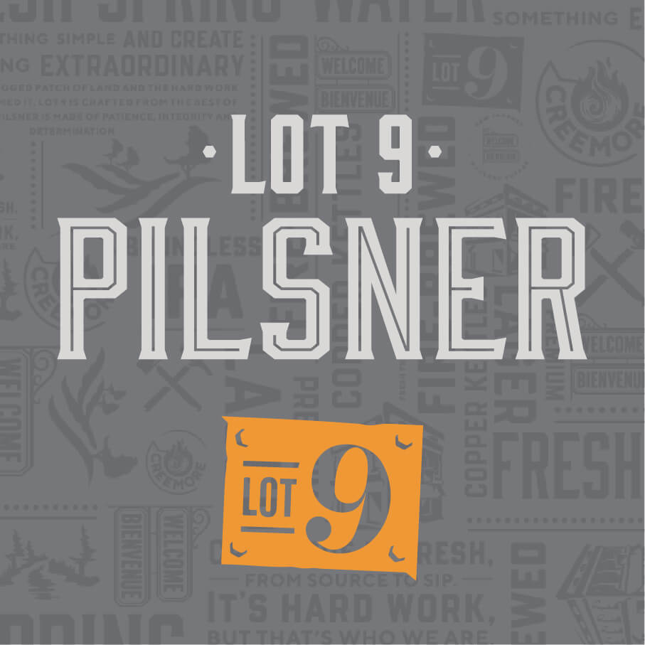 Lot 9 Pilsner with logo