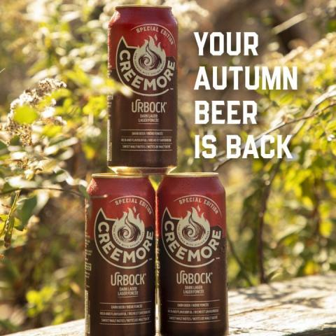 We know you're not ready to see those crisp leaves fall off the trees just yet, but take solace in the fact that the return of Autumn means our urBock Dark Lager is also back!  It's time to make room for those roasted meats, smoked cheeses and chocolate desserts. You'll want nothing more than to pair it with our rich and creamy full flavoured brew.  It won't be around all year long, so why not head to our LINK IN BIO to remind yourself of what you've been missing. 🍻 . . . #urBock #autumn #fall #creemoresprings #ontario #creemore #beerstagram #beerlover #beer #craftbeer #brew #lager